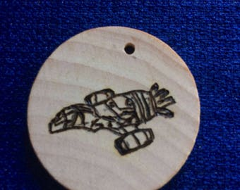 Firefly Serenity Ship Wood Burn Art