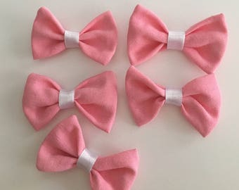 Lot of 5 bows pink jewelry clothing