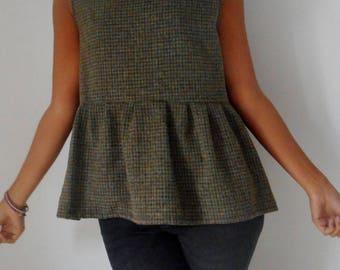 Wool tweed shirt