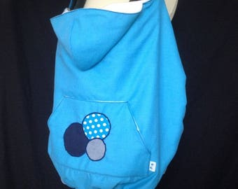 Waterproof carrying blue/turquoise cape cover