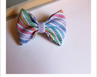 "hair bow ""clip - me"" Rainbow"