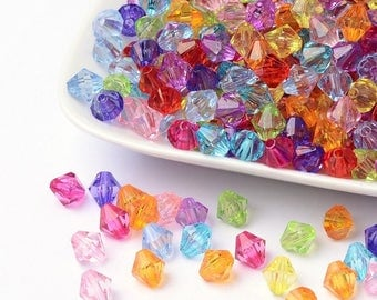 50 top resin beads multicolor 8 mm - creating jewelry