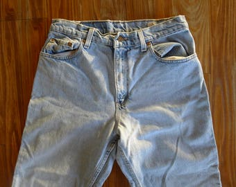 Vintage LEVIS 550 sz 11 - High Waist Tapered Leg Jeans - 90's