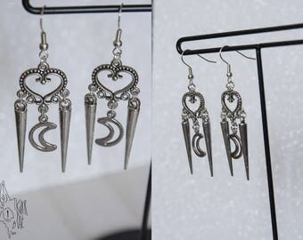 Rock dangle earrings