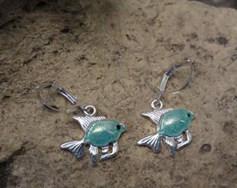 Small fish Stud Earrings silver