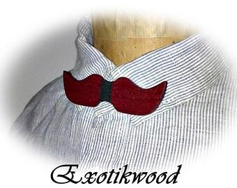 Bow tie mustache purplewood