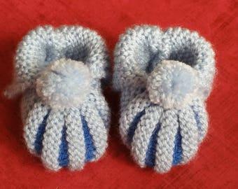 Booties hand knitted Dutch or pumpkin