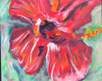 Happy Hibiscus Painting