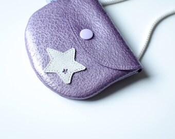 Mini girl metallic leather bag