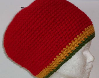 "Rasta hat ""Red"" y ""-Volume size S"