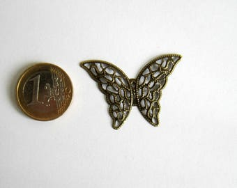 Butterfly connector bronze 41 x 29 mm