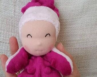 Plush doll titpoupidou light pink and fuschia