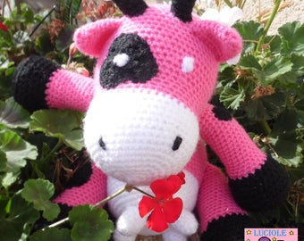 Lilli Rose cow sports Luciolequibricole toy/decoration