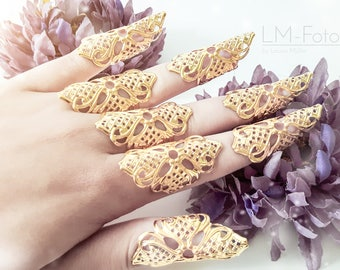 Talons / claws metal claw rings for cosplay Gothig shoots
