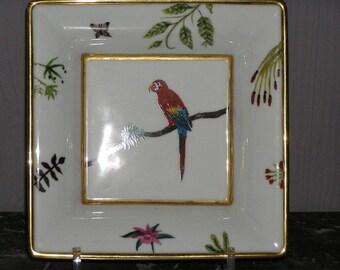 Porcelain trinket Parrot