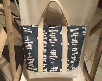 Medium cotton fabric tote bag