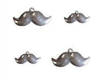 Mustache charm (sold as a set of 4 pieces)