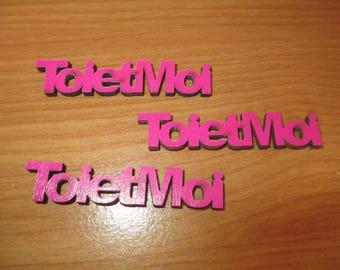 "set of 3 words, ""Toi et moi"" wood rose"