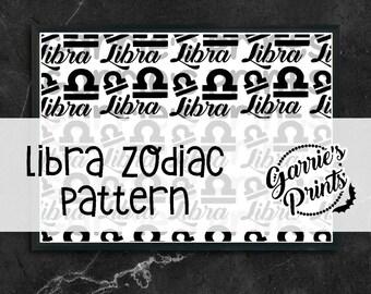 Printable | Zodiac | Libra Pattern |