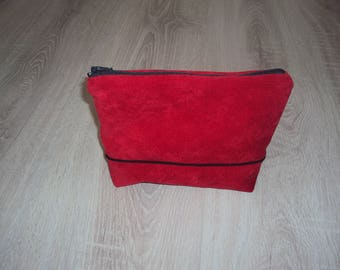 Small cosmetic case red