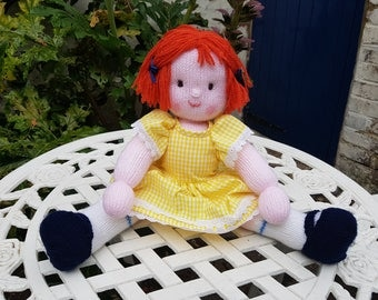 Handmade Knitted Doll - Lulu