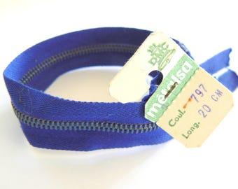 Royal Blue zipper 20 Dmc Metalsa No. 797 years 50-70 cm