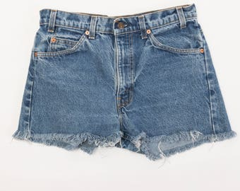 Vintage Levi's 505 Cut Off Shorts- Medium Wash