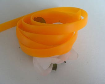 Cord thong strap orange belt 1 meter wide silicone 8mm flat