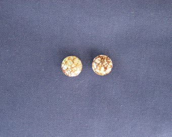 2 Brown acrylic beads 18 x 10 mm