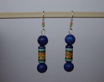 Earrings blue as the Peru