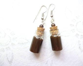 Earring vials gourmet chocolate
