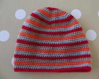 Boy striped crochet hat size 6 months