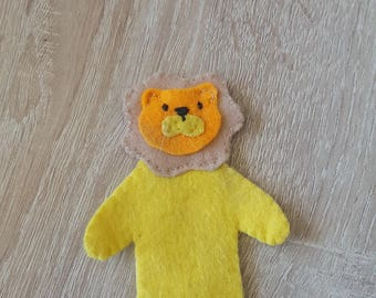 finger puppet felt lion model