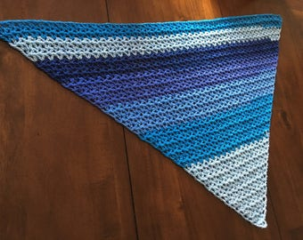 blue summer shawl/scarf