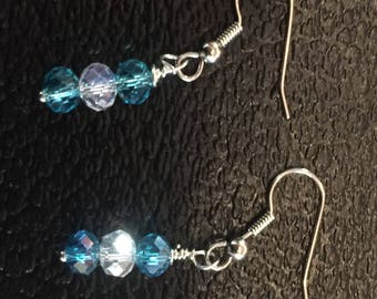 Sterling 925 silver w/cz crystal beads