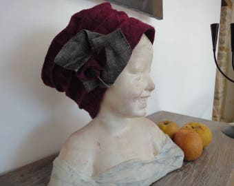 Hat couture boiled wool