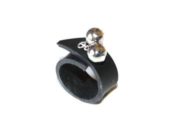 Ring in inner tube recycled car charms