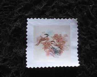 Image transfer, to sew, birds, flower, spring