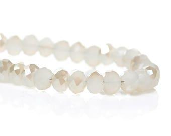 Lot 50 round glass beads flat 4mm - SC48357-