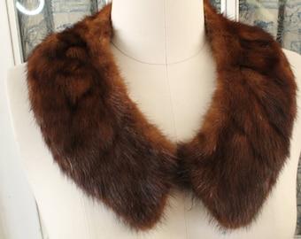 1950's Brown Mink Collar