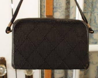 1950's Black Structured Handbag