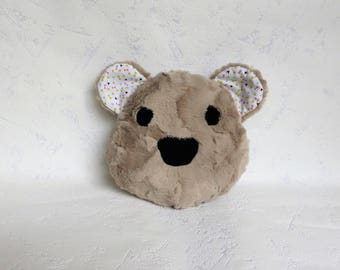 Soft cushion beige Teddy bear head