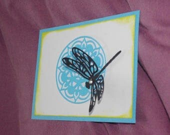 card celebrating the mothers black dragonfly