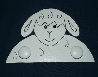 White lamb coat button