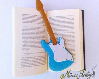 segnalibro chitarra fender stratocaster in feltro bookmark guitar stratocaster in felt