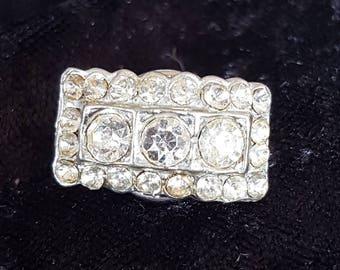 Vintage Art Deco style Rhinestone Pin