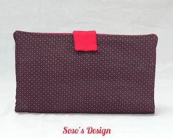 Black wallet with small red dots