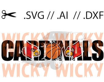 Louisville Cardinals Knockout SVG // AI // DXF. Layered Vinyl cut file