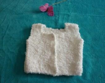 Veste / gilet effet laine de mouton pour bébé 6/9 mois