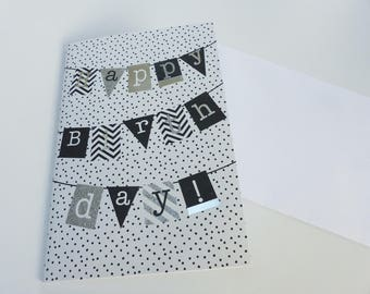 good birthday silver glitter happy birthday card